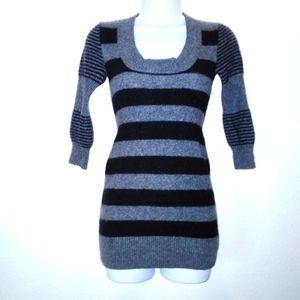 Bebe Cashmere Striped Sweater Dress